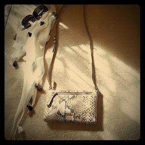 Cole Haan small cross body python purse